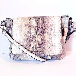 Liz Claiborne Snake Print Messenger Bag